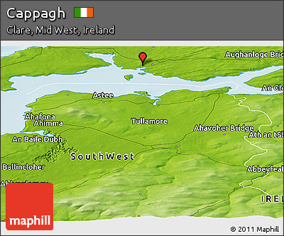 Physical Panoramic Map of Cappagh