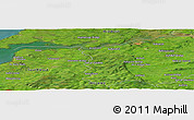 Satellite Panoramic Map of Tullamore