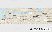 Shaded Relief Panoramic Map of Clooncullin Bridge