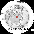 Outline Map of Ust'-Ordynskiy, rectangular outline