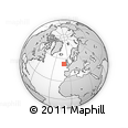 """Outline Map of the Area around 52° 53' 45"""" N, 10° 7' 30"""" W, rectangular outline"""