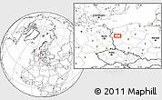 Blank Location Map of Gorzów Wielkopolski