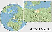 Savanna Style Location Map of Gorzów Wielkopolski