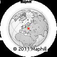 Outline Map of Salihorsk, rectangular outline