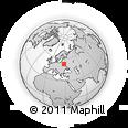 Outline Map of Bayanichi, rectangular outline