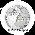 Outline Map of ST6 3NQ, rectangular outline