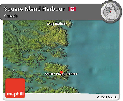Free Satellite 3D Map of Square Island Harbour
