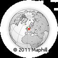 Outline Map of Bovenkarspel, rectangular outline