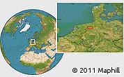 Satellite Location Map of Herbrum