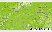 """Physical 3D Map of the area around 52°53'45""""N,7°34'30""""W"""
