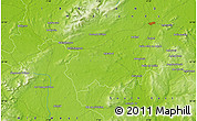 """Physical Map of the area around 52°53'45""""N,7°34'30""""W"""