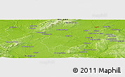 "Physical Panoramic Map of the area around 52° 53' 45"" N, 7° 34' 30"" W"