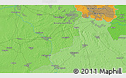 Political 3D Map of Delmenhorst