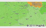 Political 3D Map of Bremen