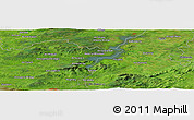 Satellite Panoramic Map of Ballinderry