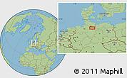 "Savanna Style Location Map of the area around 53°17'0""N,10°16'30""E"