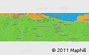 Political Panoramic Map of Escheburg