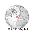 """Outline Map of the Area around 53° 17' 0"""" N, 10° 58' 29"""" W, rectangular outline"""