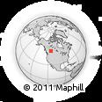 Outline Map of Tomahawk, rectangular outline