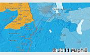 Political 3D Map of Szczecin