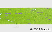 """Physical Panoramic Map of the area around 53°17'0""""N,15°22'30""""E"""
