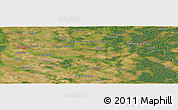 "Satellite Panoramic Map of the area around 53°17'0""N,15°22'30""E"