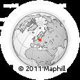 Outline Map of Grabówno, rectangular outline