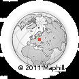 Outline Map of Mitskeviche Duzhe, rectangular outline