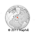 """Outline Map of the Area around 53° 17' 0"""" N, 27° 16' 29"""" E, rectangular outline"""