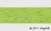 """Physical Panoramic Map of the area around 53°17'0""""N,27°16'29""""E"""