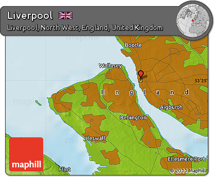 Geographic Map Of England.Free Physical Map Of Liverpool