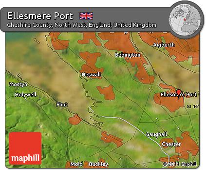 Free Satellite Map of Ellesmere Port