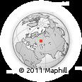 Outline Map of World Map, rectangular outline