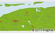Physical 3D Map of Leeuwarden