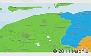 Political 3D Map of Leeuwarden