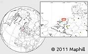 Blank Location Map of Leeuwarden