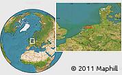 Satellite Location Map of Leeuwarden
