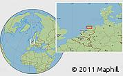 Savanna Style Location Map of Leeuwarden