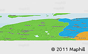 """Political Panoramic Map of the area around 53°17'0""""N,6°1'30""""E"""