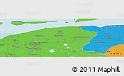Political Panoramic Map of Allardsoog