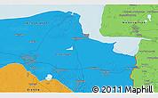 Political 3D Map of Groningen