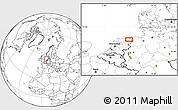 Blank Location Map of Groningen