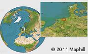 Satellite Location Map of Groningen