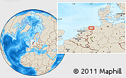 Shaded Relief Location Map of Groningen