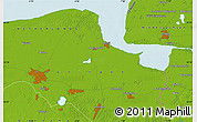 Physical Map of Groningen