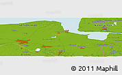"Physical Panoramic Map of the area around 53° 17' 0"" N, 6° 52' 30"" E"