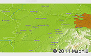 """Physical 3D Map of the area around 53°17'0""""N,6°43'29""""W"""