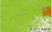 """Physical Map of the area around 53°17'0""""N,6°43'29""""W"""