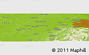 """Physical Panoramic Map of the area around 53°17'0""""N,6°43'29""""W"""
