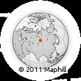 Outline Map of Barnaul, rectangular outline